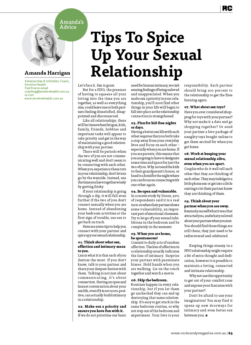 Tips to Spice Up Your Sexual Relationship